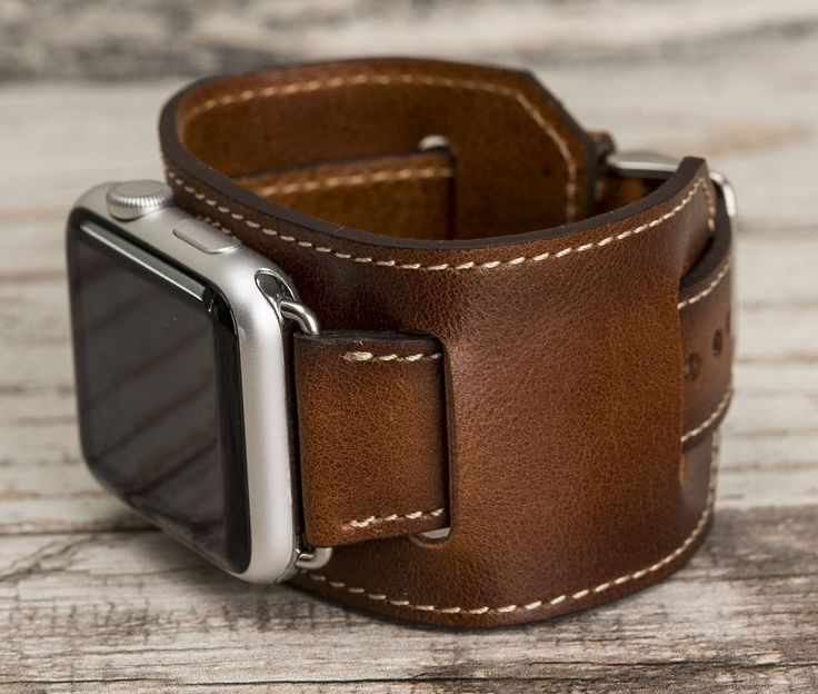 Leather Apple Watch cuff, 42mm, 38mm, Leather watch band, Apple watch cuff, iwatch band, Apple watch leather band, brown iwatch strap by o2leather on Etsy
