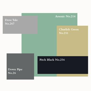 I wonder if Dave Tale and Arsenic would be good accent colours (The Great Gatsby - Farrow & Ball)