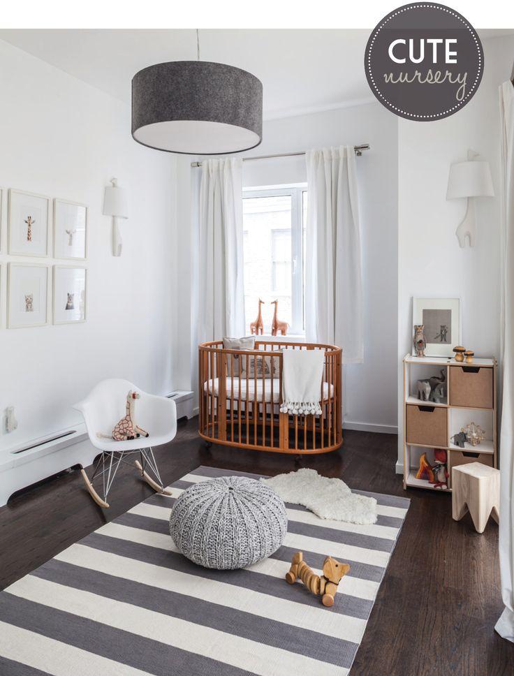 Dormitorio de bebe con mecedora EAMES BABY | Decorar tu casa es facilisimo.com