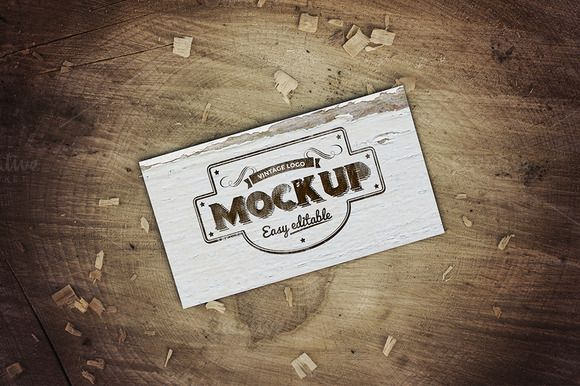 Vintage Business Card Mockup by attraax on Creative Market