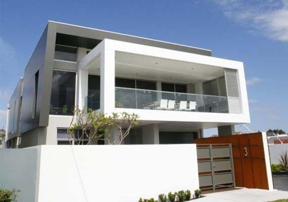 Balcony Design of Minimalist House Design with Concrete Roof ...