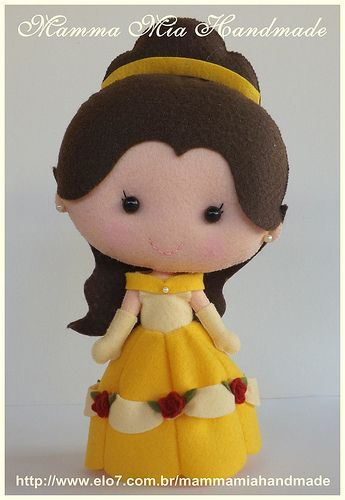 Belle PDF ||| doll, plush, felt, fabric, Disney, Beauty and the Beast