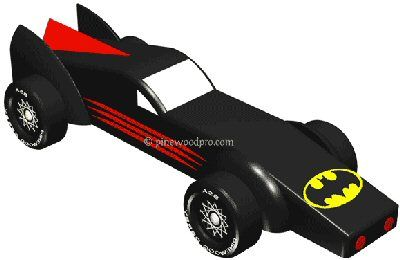 pinewood derby shark template - batmobile pinewood derby 3d design plan instant