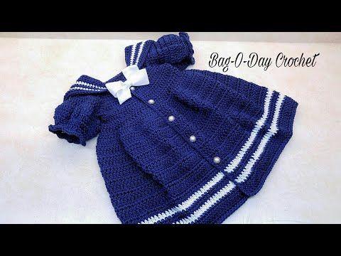 Crochet the Sassy Little Sailor Baby Dress