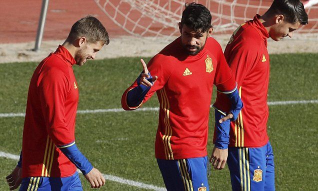 Spain striker Diego Costa ruled out of England game as groin injury prevents him from facing Chelsea team-mate Gary Cahill...