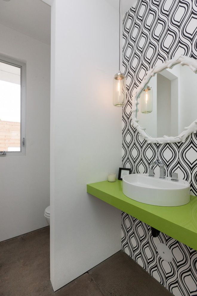 Exquisite Lime Green Bathroom Decor Decorating Ideas In Powder Room Contemporary Design Ideas With Exquisite Above