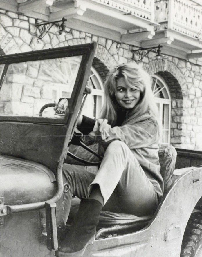 Brigitte Bardot on a visit to Cortina D'Ampezzo in Italy, 1958