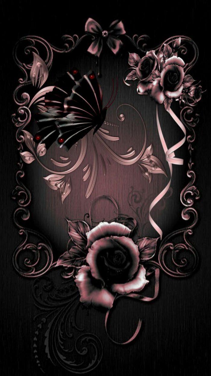 Iphone 8 Wallpaper Rose Gold Lock Screen Gothic Wallpaper