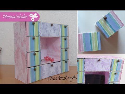 Organizador cajonera en forma de casita para tus accesorios [ Reciclaje ] - YouTube