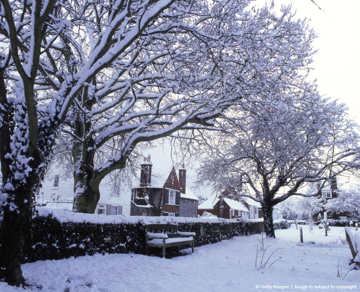Image detail for -Winter scene in the ancient town of Winchelsea, Winchelsea, East Sussex, England.