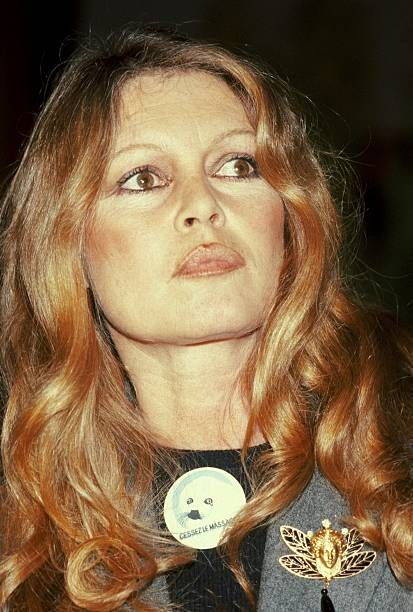 Press conference held by the association to protect fur animals Brigitte Bardot in ClermontFerrand France on March 10th 1979