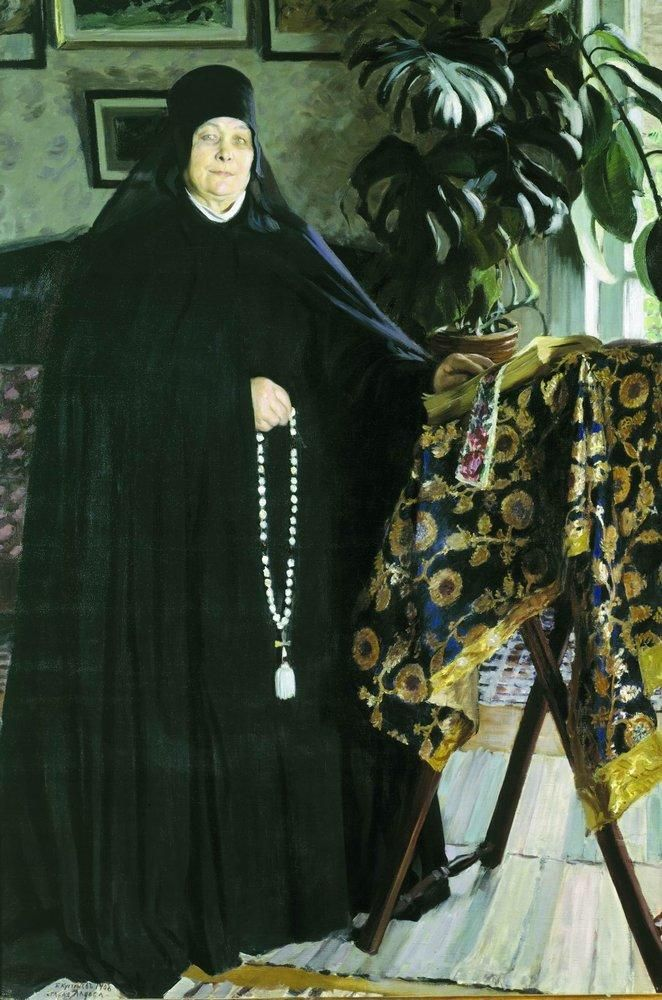 Abbess, 1908  Boris Kustodiev