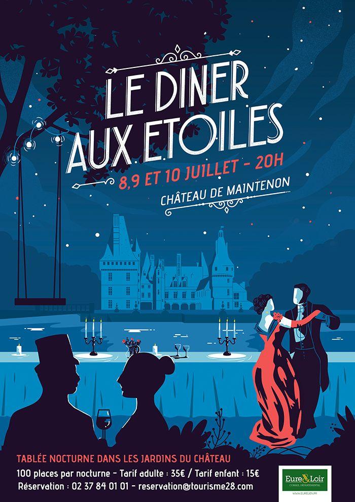 affiche_Diner aux étoiles_affiche_evenementielle_château_communication_evenement