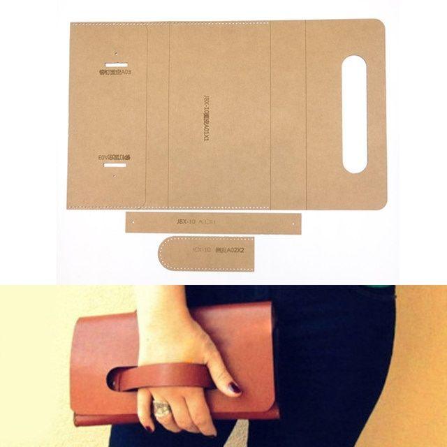 1 set DIY Leder Handgemachte Handwerk frauen handtasche geldbörse Nähen Muster Fest Kraft papier Schablone Template 220×120 x 25mm