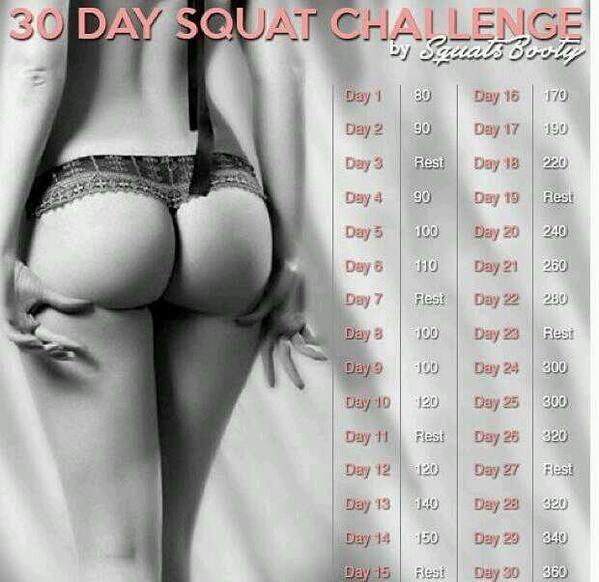 30 days squat challenge - my mission for september.