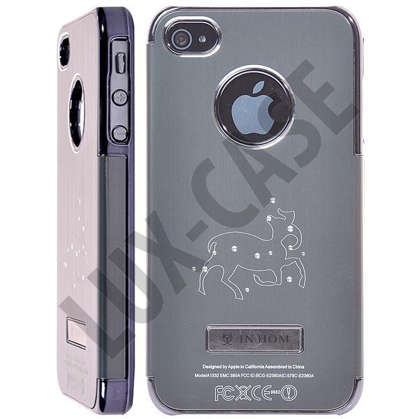 Zodiac Bling - Alu Back (Grå) iPhone 4/4S Deksel