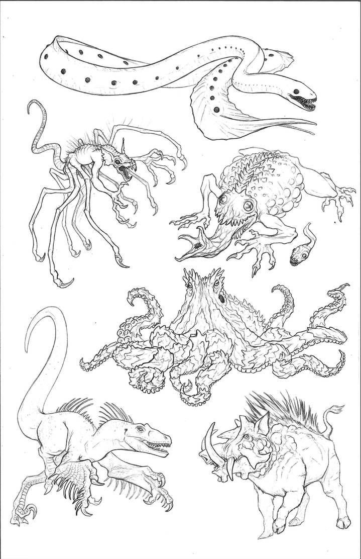 Kaiju Revolution Skull Island Menagerie 4 By Https Www Deviantart Com Transapient On Deviantart Skull Island Creature Concept Art Kaiju