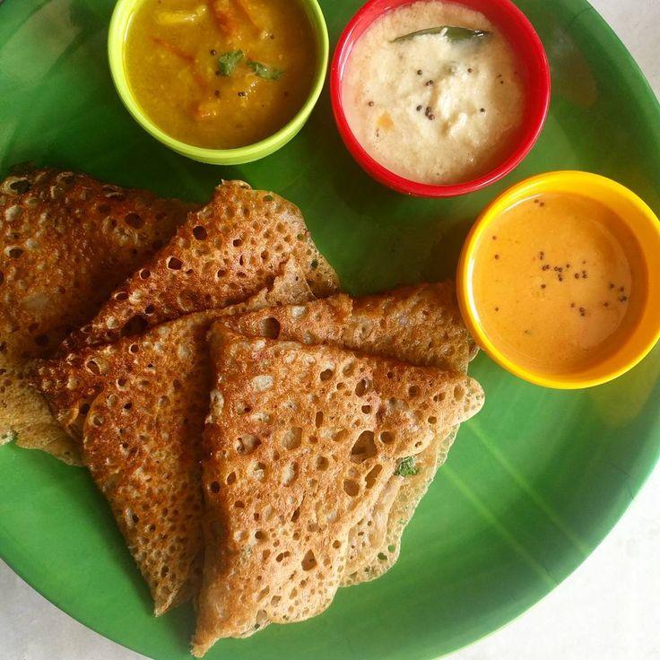 Kambu Maavu Dosa-Bajra flour dosa  Recipe in #sharmispassions.com