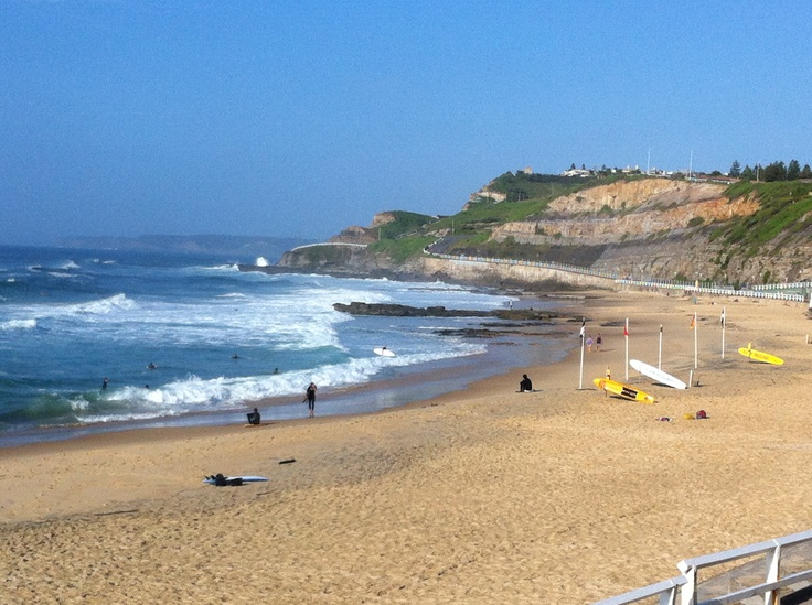 Newcastle Beach. 8.30am on Saturday 16 March 2013. A gorgeous morning.