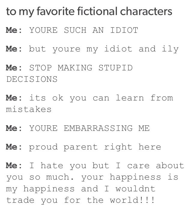 I think this perfectly sums up how i feel at all times when reading. To all the fictional characters: Don't do dumb things that make me cringe.