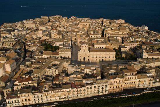 veduta aerea di ortigia - SIRACUSA - Sicilia-Italia