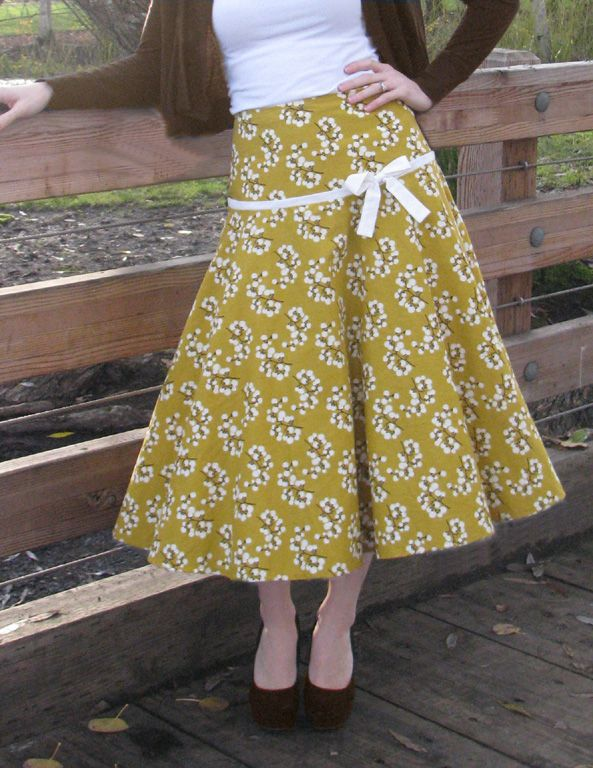 Spin Skirt Sewing Pattern by Sew Chic. (take it up a few inches for a younger more modern look)