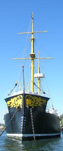Huascar, repiques histórica, museo flotante ubicado en la cuidad de Talcahuano, Chile
