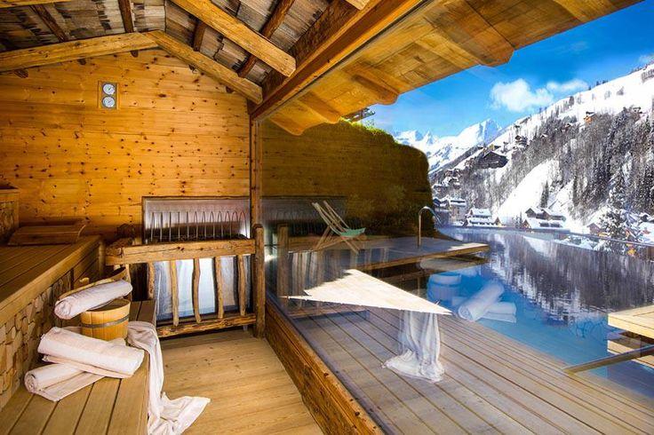 Outdoor Sauna im Wellnesshotel Alpin Juwel in Saalbach Hinterglemm