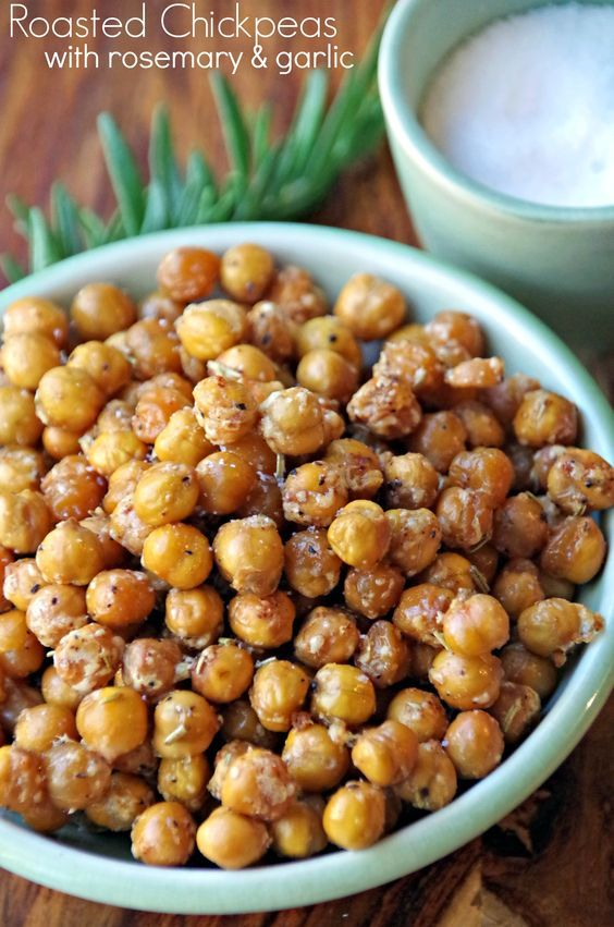 Spicy Roasted Chickpeas Snack Recipe with Rosemary and Garlic | Recipe ...