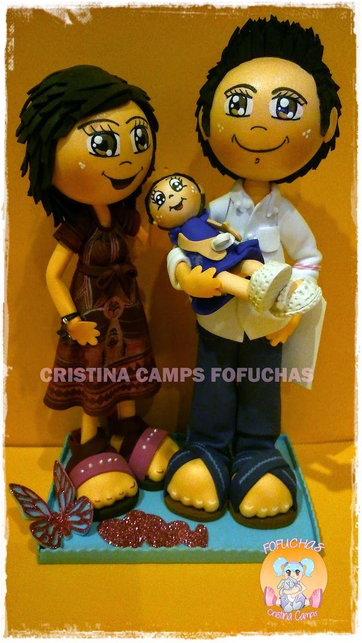 Cristina Camps Fofuchas: FOFUCHAS FAMILIA CON BEBE