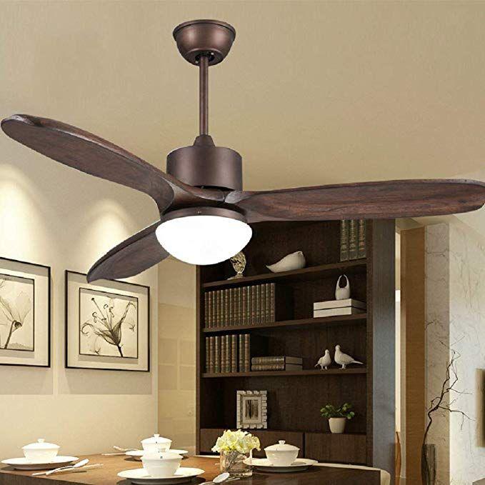 Le Fan American Retro Ceiling Fan Light With Remote 48 Inch 3 Solid Wood Blades Simple Fan Light Nordic Fan Chandelier Chandelier Bedroom Room Fan Ceiling Fan