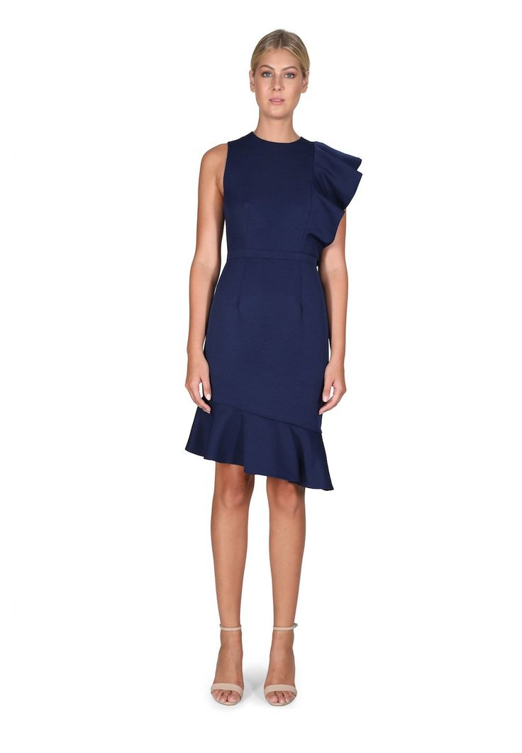 Cooper St - Canyon Shadows Dress In Navy