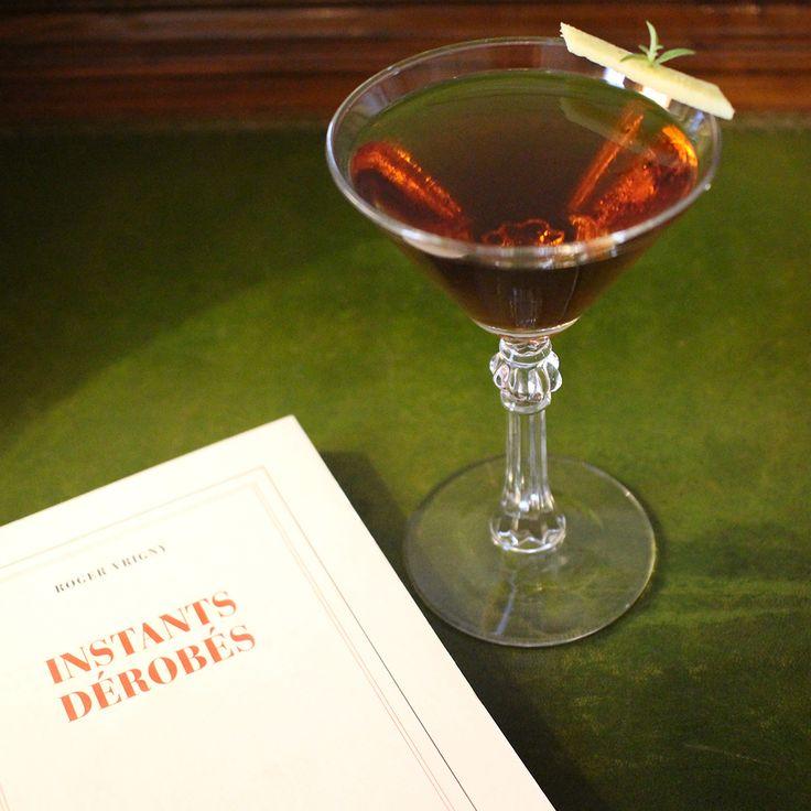 【 Les cocktails du Mardi Soir】  🍸 « Instants dérobés » un #shortdrink à base de #Martini #GranLusso, #Bourbon #Whiskey & #Mezcal.  -----------------------------  🍸 « Instants dérobés » a shortdrink made of Martini Gran Lusso, Bourbon Whiskey & Mezcal.  #lescocktailsdumardisoir #hotellancaster #cocktail #mixology#drinks #beverage