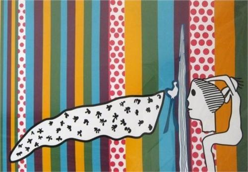 Walter Battiss (1906 - 1982) | Pop Art | Seychelles Curtains