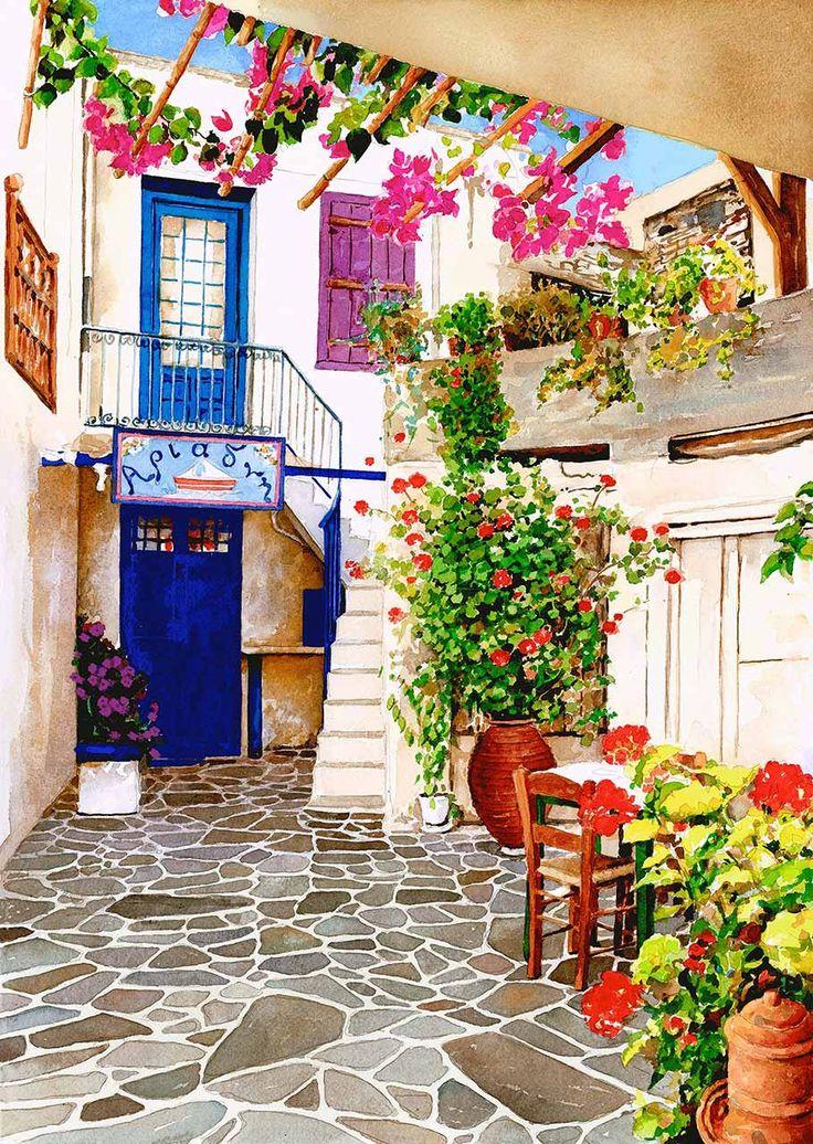 Courtyard, Zografos Gallery