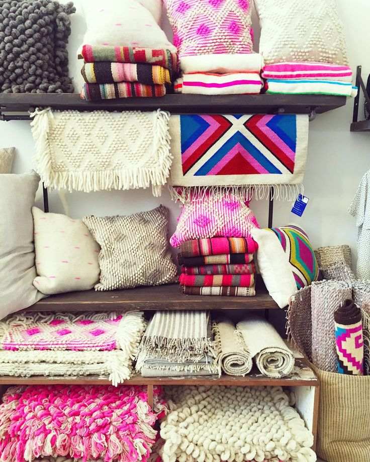 hot pink + cream textiles