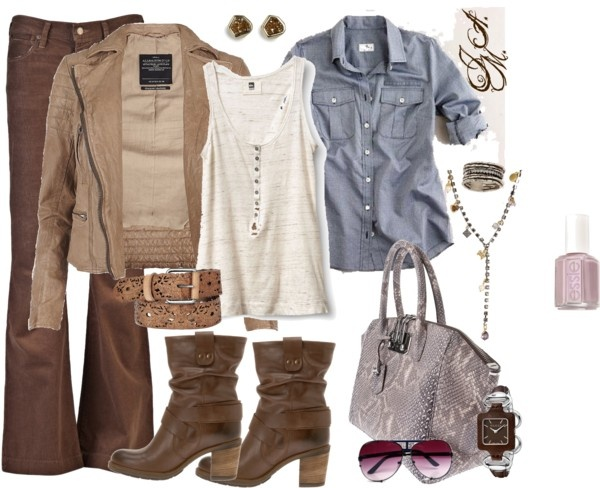 """Laid Back Browns"" by jayneann1809 on Polyvore"