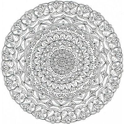 Illuminations Creations : Mandala pattern free from my inspiration...