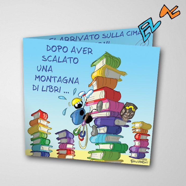 Biglietto musicale Laurea (FV07-10) | Le Formiche di Fabio Vettori #formiche #fabiovettori #biglietto #auguri #musica #music #fun #regalo #gift #laurea #laureato #scalata