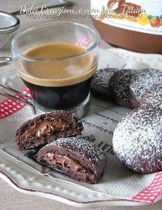 Biscotti al cacao ripieni di nutella   ricetta senza lievito