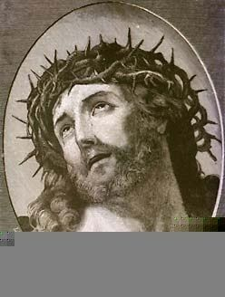 This is a image of Jesus drawn and then painted by the Gothic Peoples, it is called Jesus Of Nazareth and depicts Jesus while he was on the cross and looking up to the father.