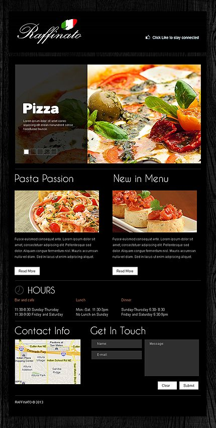 15 best pizza website templates images on pinterest templates template 42374 is a website template pronofoot35fo Images