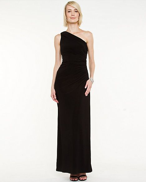 Knit+One+Shoulder+Gown