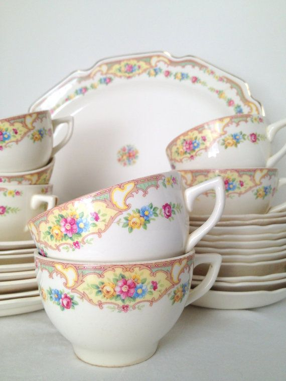 vintage dinnerware set mount clemens pottery by