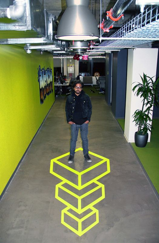 Geometric Tape Art Invades Facebook - My Modern Met