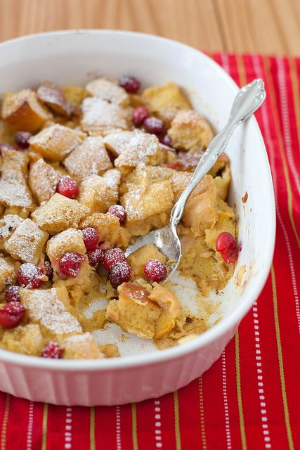... for Christmas Morning breakfast! Eggnog Cranberry Baked French Toast