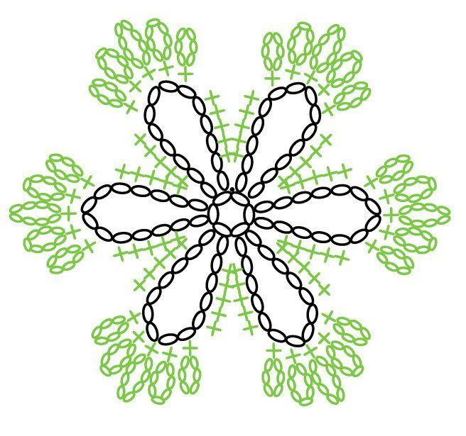 snowflakes crochet 213