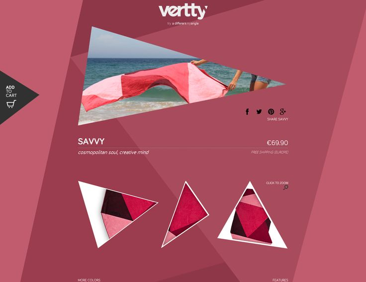 SAVVY | Vertty - Reinventing the beach towel concept http://www.tryvertty.com/products/savvy