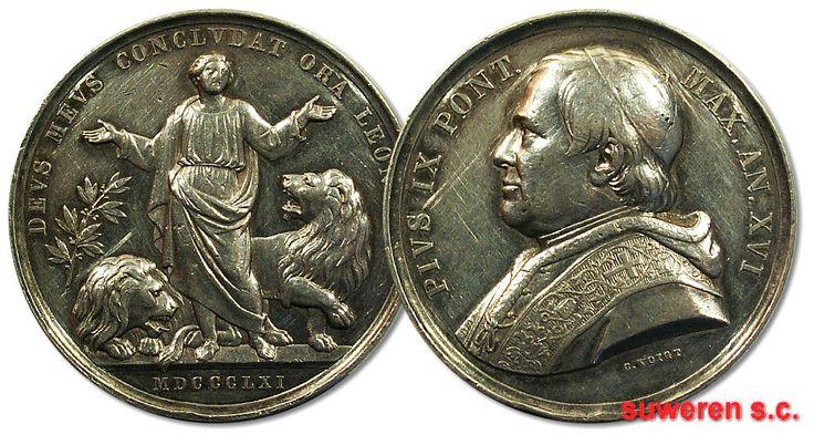 24.as.PAPIESTWO, MEDAL-DEVS MEVS CONCLVDAT... 1861