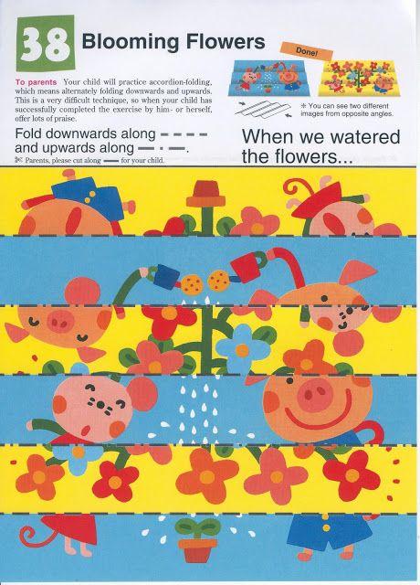 Geef de bloemetjes water en vouw, er verschijnt een mooie struik met bloemen.